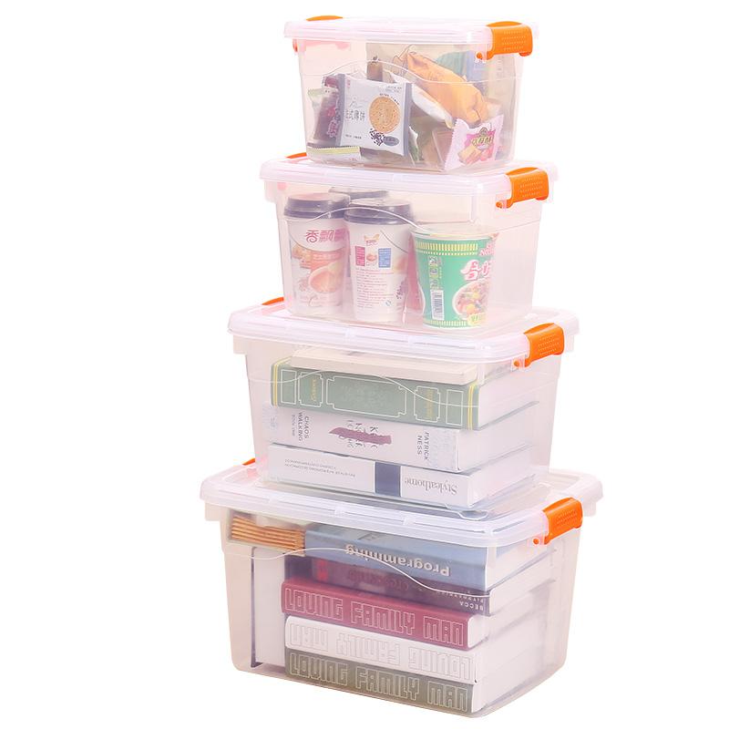 特大号收纳箱塑料整理箱有盖小号衣服零食玩具储物箱子透明收纳盒 破损包退包换,全新环保加厚材质
