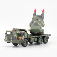 仿真军事战车 导弹炮管合金车模型 儿童声光回力玩具车批发