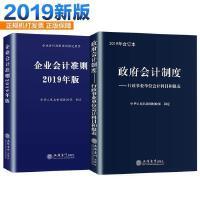 2019新版 套装2本 企业会计准则2019年版+政府会计制度2019年版