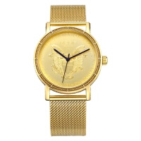 2018新款 美格尔男士手表 薄石英表简约时尚精钢链手表2032 金色