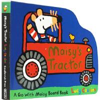 Maisy's Tractor 小鼠波波系列 英文原版绘本 拖拉机 交通工具造型 纸板书