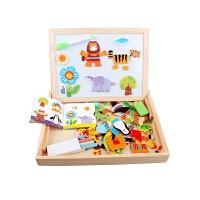宝宝磁性拼拼乐木制男女孩积木质拼图儿童益智力玩具