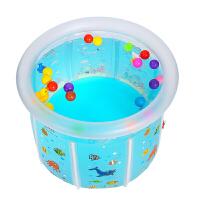 儿童充气游泳池 新生婴儿游泳池加厚充气透明支架儿童游泳桶宝宝洗澡桶省水保温池