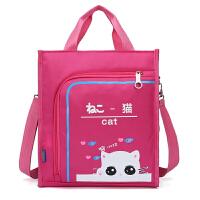 男女儿童补课包单肩书包斜挎包小学生补习袋初高中学生手提袋书袋