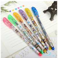 6色 12色 24色卡通熊闪光笔 荧光笔 创意涂鸦笔 儿童绘画涂鸦彩色荧光笔 彩色笔