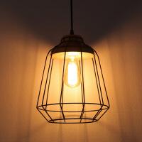 欧式简约原木餐厅卧室铁艺网状吊灯书房客厅吧台鸟笼吊灯灯具