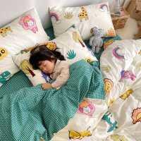 ins卡通四件套全棉纯棉小清新网红款床单被套儿童床上用品三件套