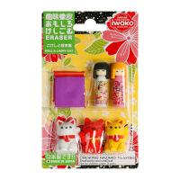 IWAKO ER-BRI020 岩泽趣味橡皮 儿童卡通可爱橡皮创意文具 .招财猫与日本娃娃当当自营