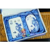 青花瓷移动电源 青花无线鼠标套装 旅游便携式充电宝 鼠标两件套