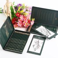 德国辉柏嘉9000素描铅笔 12支铁盒套装 辉柏嘉铅笔绘图设计 119065