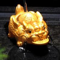 【优选】变色茶宠摆件精品金蟾可养貔貅喷水创意茶具配件茶盘茶台宠物