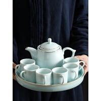 【好店】【好店】茶具创意套装 时尚 现代家郎 青瓷茶具套装家用简约整套中式功