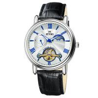2018新款 EYKI艾奇 潮流时尚男士手表 全自动机械表 镂空简约表盘 时尚大气皮带手表 8685