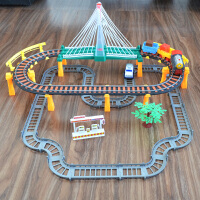 汽车赛车男女孩礼物电动小火车套装可充电动轨道火车儿童玩具