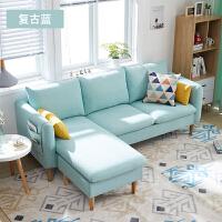 【品牌特惠】北欧布艺沙发小户型简约现代三人位客厅出租房卧室网红款小沙发