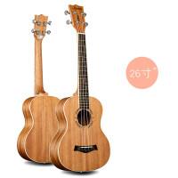 2018新款 尤克里里23寸乌克丽丽26寸小吉他礼物桃花心木白色包边
