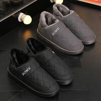 雪地靴男冬季保暖加绒防水PU皮防滑低帮靴子加厚棉鞋男冬