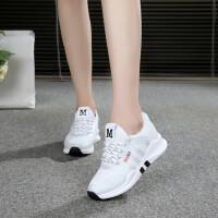 休闲鞋女运动鞋休闲鞋女鞋内增高坡跟韩版厚底小白鞋潮运动高跟鞋子