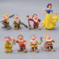 白雪公主和七个小矮人王后王子烘焙生日摆件装饰玩具公仔 B组 5-10厘米