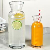 大容量玻璃泡柠檬水壶创意饮料瓶果汁瓶简约耐高温冷水壶