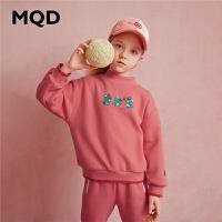【2件3.5折券后价:134】MQD童装女童加绒加厚立领卫衣2020冬装新款儿童百搭保暖韩版卫衣