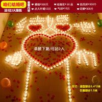 蜡烛浪漫生日求婚创意布置用品求爱表白爱意情人节爱心形蜡烛
