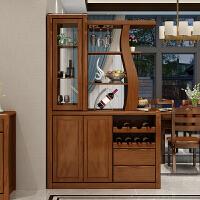 实木间厅柜隔断柜玄关柜双门酒柜现代简约中式门厅柜储物收纳家具 组装 箱框结构