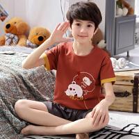 中大童男童家居服套装夏季儿童男孩薄款短袖睡衣