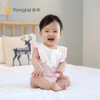 1-18个月女宝宝连体衣爬爬服夏季新款婴儿无袖棉包屁衣