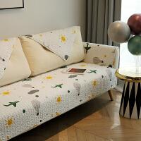 天空 防滑沙发盖巾全棉布艺沙发垫 套罩坐垫 四季通用 可定制 天空F
