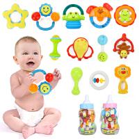 橙爱 五星大奶瓶宝宝益智摇铃12件套装 新生儿手摇铃组合 婴儿玩具 0-1岁