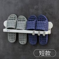 浴室拖鞋架墙壁免打孔架子卫生间鞋架收纳神器家用置物架壁挂沥水