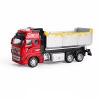 仿真儿童合金消防车工程系列水泥车环卫玩具车模型 1:38 292H-1红色泥头车 0.29kg