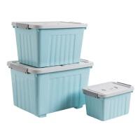 有盖收纳箱塑料储物箱 家用玩具箱子衣柜收纳盒整理箱