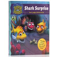 英文原版Splash and Bubbles: Shark Surprise 水花和泡泡:鲨鱼惊喜 儿童启蒙绘本 平装