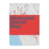 预订Modernist Detroit Map:Guide to modernist architecture in D