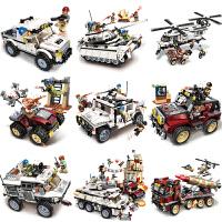 儿童积木拼装玩具益智力坦克模型男孩拼图7-10岁12生日礼物