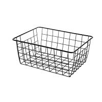 日式铁艺收纳篮厨房零食收纳筐桌面玩具篮子衣柜衣物收纳框