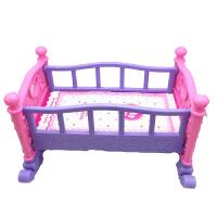 �和�女孩大��^家家玩具床 公主娃娃床玩具�u床�u�@仿真��捍�