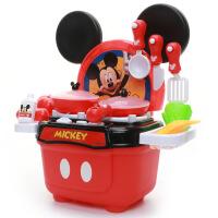 米奇米妮灯光厨房玩具儿童过家家男女孩仿真餐具食物幼儿园