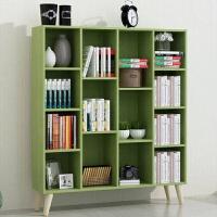 简约实木脚书柜书架木质小柜子创意储物柜置物架儿童收纳柜组合柜 0.6米以下宽