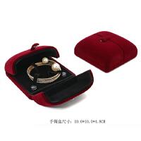 求婚戒指盒高档结婚首饰盒红色陪嫁婚礼森系对戒盒耳钉盒项链盒子