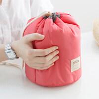 圆筒大容量防水化妆包可爱简约女生便携整理化妆品洗漱包