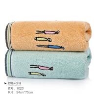 纯棉洗脸家用毛巾柔软全棉男女洗澡吸水学生创意面巾情侣一对 75x34cm