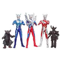 奥特曼可动人偶 模型套装银河超人变身器迪迦戴拿关节可动变形 迪迦 三只套装送贴纸