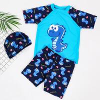 宝宝中大童男孩泳装小童恐龙游泳衣儿童泳衣男童泳裤分体套装