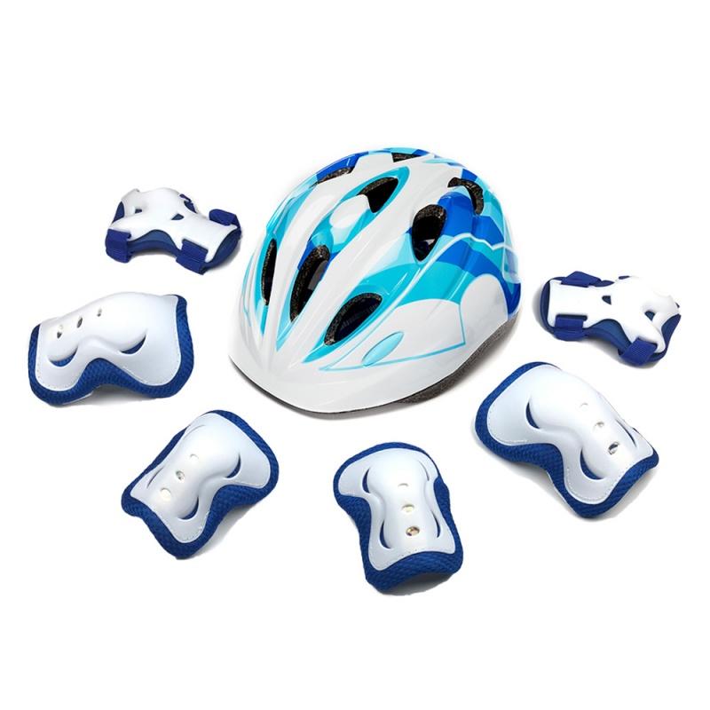 儿童护膝护腕护肘套装宝宝防摔运动平衡车骑行轮滑溜冰鞋头盔护具