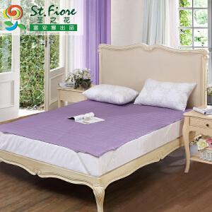 [当当自营]富安娜床垫磨毛印花保护垫 素雅亲肤保护床垫 紫色 180*200