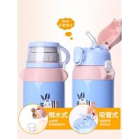 儿童保温杯女带吸管小孩两用不锈钢水壶小学生幼儿园宝宝杯子