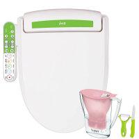 韩国爱真(izen)IBC6700智能马桶盖洁身器儿童清洁座便盖 绿色 短款48.5cm
